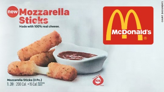 Man Suing McDonald's Claims Their New Mozzarella Sticks Aren't Really Mozzarella