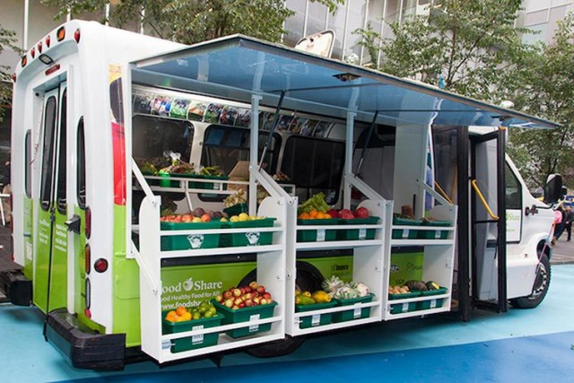 Bus Converted Into Mobile Food Market Provides Low-Income Neighborhoods With Fresh Food