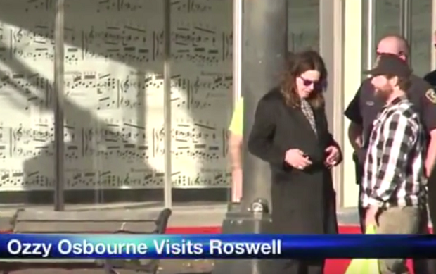 Ozzy Osbourne Visits UFO Crash Site In Roswell, New Mexico