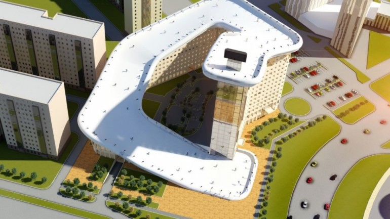 Slalom House:The World's First Residential Rooftop Ski Slope