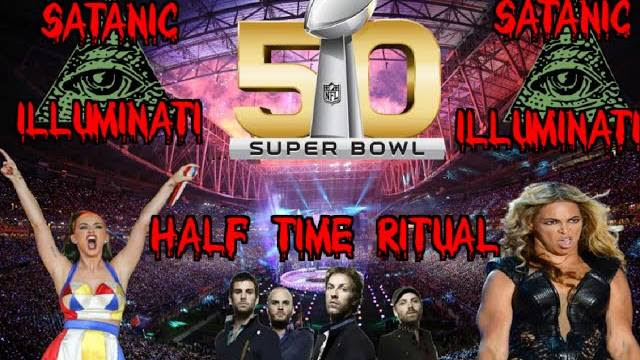 Super Bowl 50 Illuminati Satanic Half Time Ritual Exposed