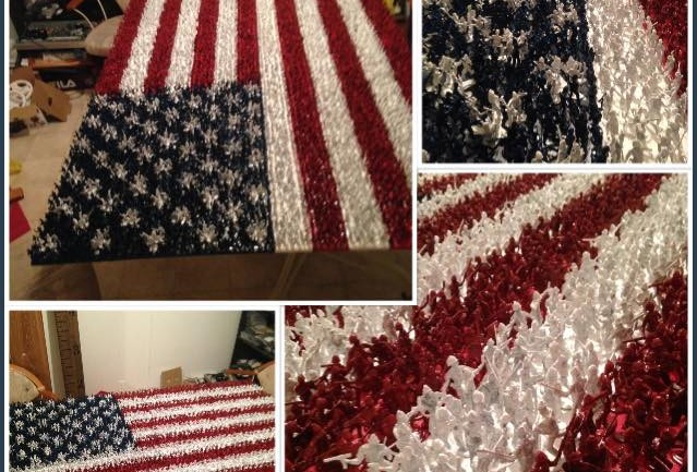 This 17-Year-Old Spent 11 Days, 56 Hours, And 4000 Of These To Make A Stunning American Flag