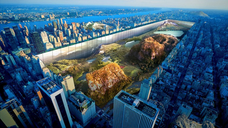 There's A Proposal To Build 1,000 Ft Walls Around An Excavated Central Park