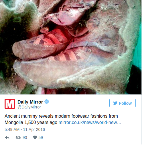 1 500 Year Old Mummy Found In Mongolia 'Wearing Adidas Boots' Is Proof Of Time Travel According To Conspiracy Theorists