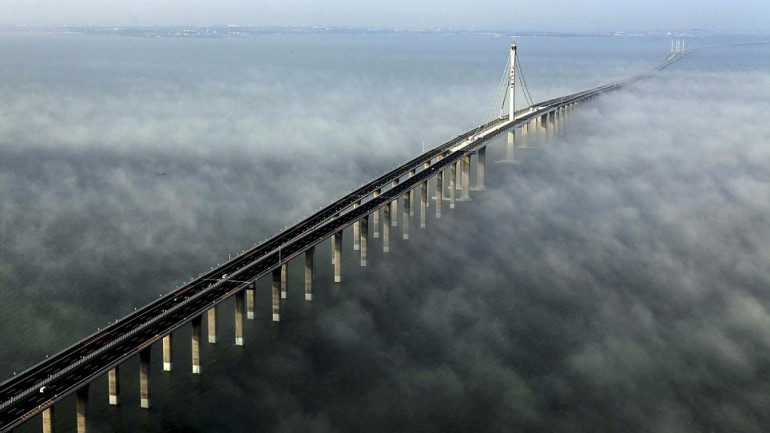 Jiaozhou Bay Bridge Is Truly An ENGINEERING MARVEL ….The LONGEST SEA BRIDGE IN THE WORLD