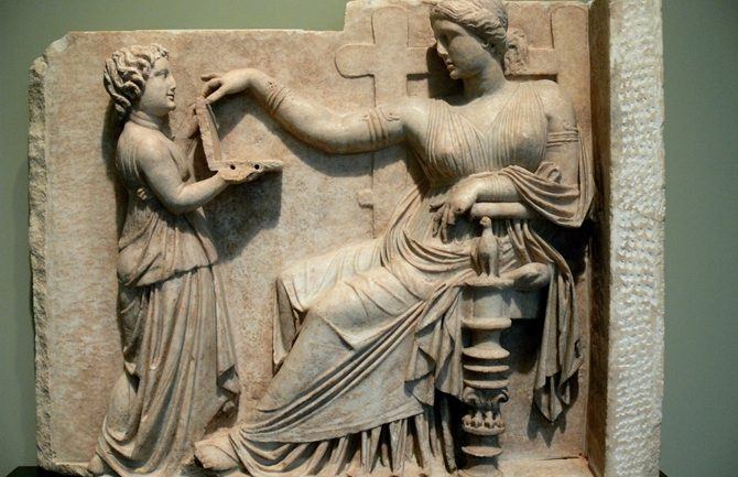 Does This Greek Statue Show an Ancient Laptop?