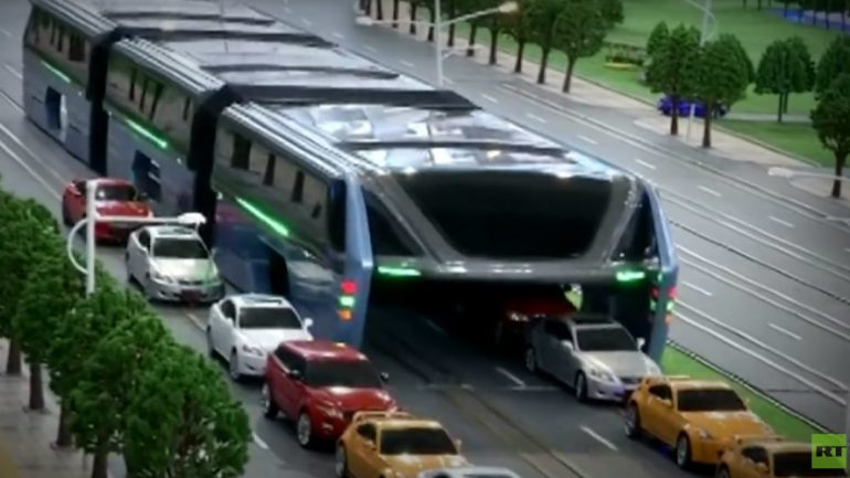 The Future of Transport? From China's Traffic Busting 'Uber-Bus' to Flying Cars
