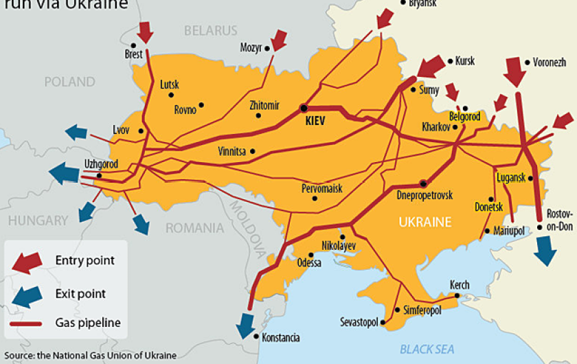 Ukraine Gazprom gas pipe