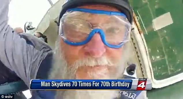 Man Skydives 70 Times On His 70th Birthday For Charity