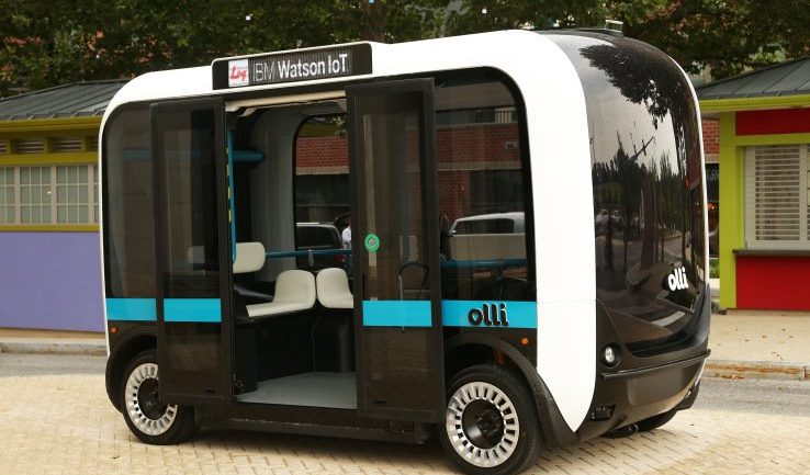 THIS 3D PRINTED, SELF-DRIVING MINIBUS IS HITTING THE STREETS IN THE US