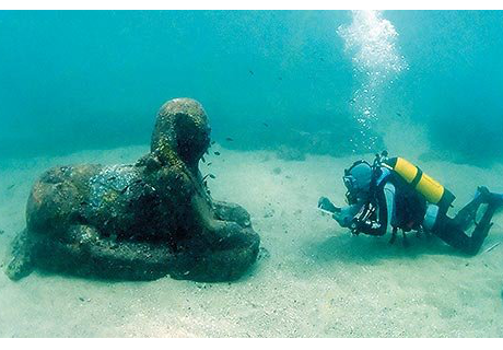 MYSTERIOUS ANTIQUE SPHINX DISCOVERED IN THE BAHAMAS