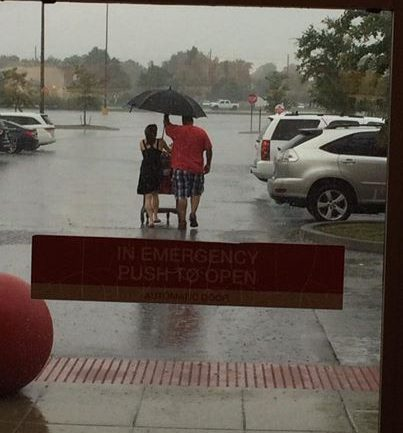 This Man With Umbrella Is Going Viral For A Heart-Breaking Reason