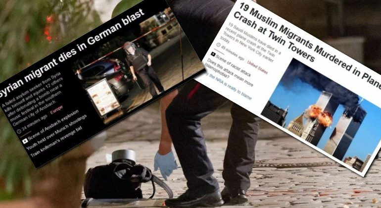 BBC REPORTS GERMANY SUICIDE BOMBING AS IF SUICIDE BOMBER WAS THE VICTIM