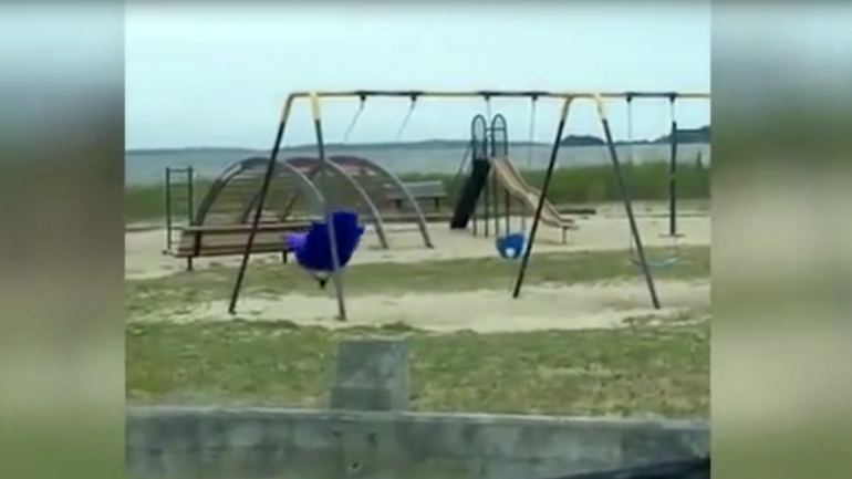 Poltergeist Playground: Kids Spooked by 'Haunted Ghost' Swing
