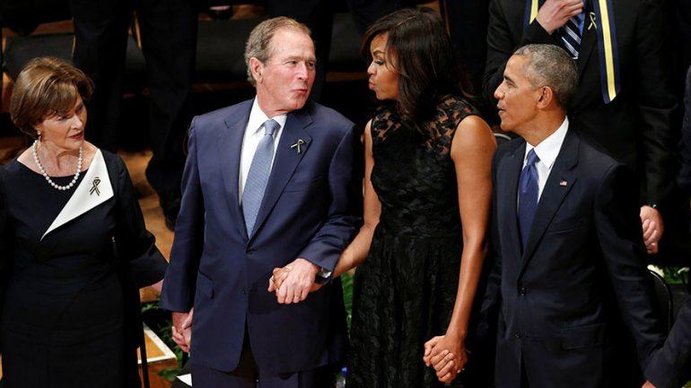 George Bush Shocks America With Little Dance at Dallas Police Memorial Service