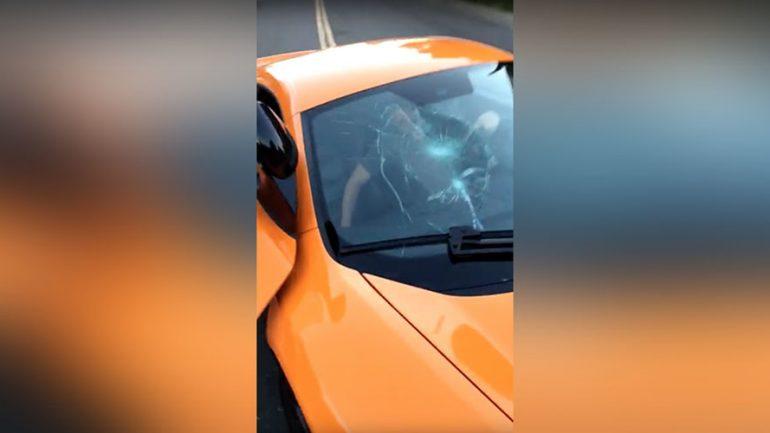 Skateboarder Smashes Windshield of $250,000 McLaren
