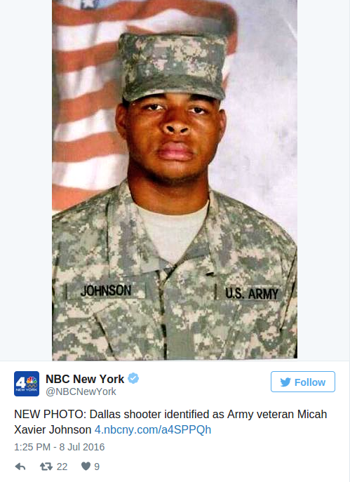 Dallas Shooter  Army Vet Micah Johnson   Wanted To Kill White People    Zero Hedge