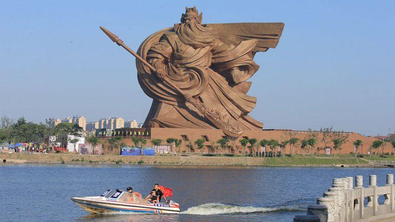 China Unveils Epic 1,320 Ton God Of War Statue