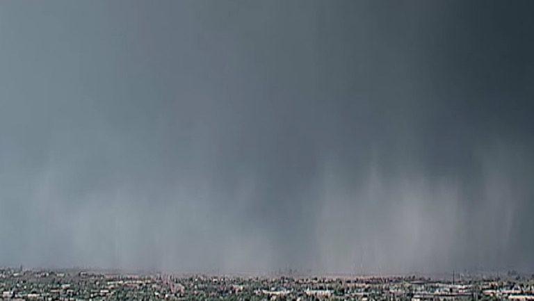 'Rain Bomb' Phenomenon Caught on Camera During Storm