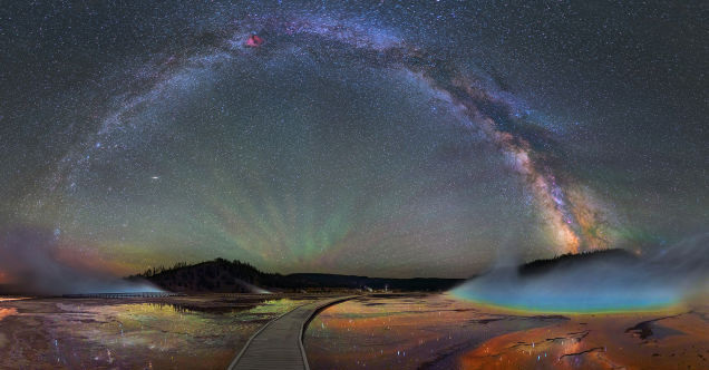 MILKY WAY OVER YELLOWSTONE IS BREATHTAKING