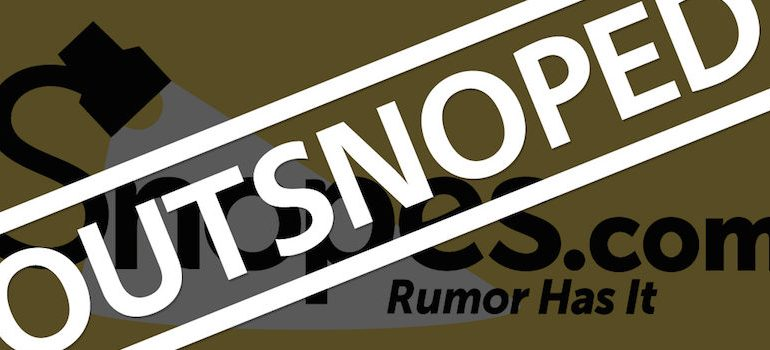 Snopes Caught Lying For Hillary Again, Questions Raised