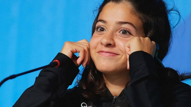 A Refugee Who Was Swimming For Her Life To Escape Syria One Year Ago….. Now Swimming In The Olympics