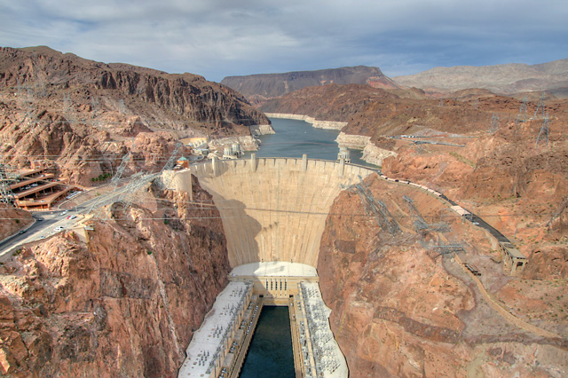 Hoover Dam, view from bypass bridge.