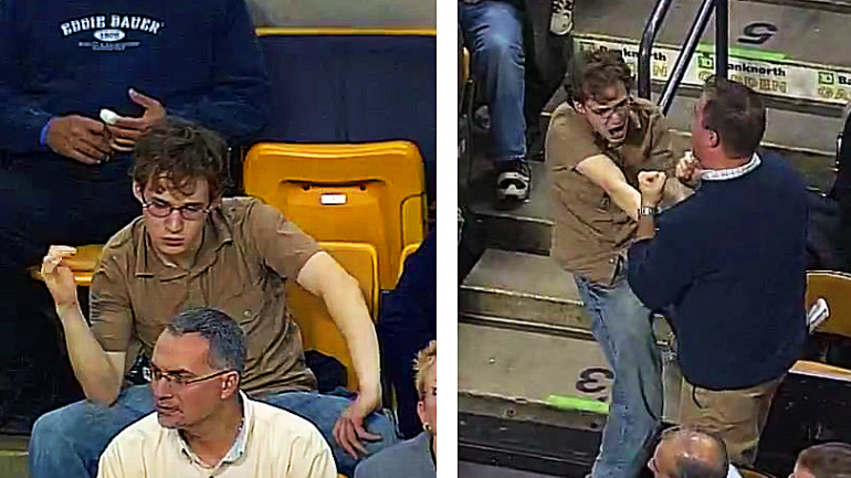 This Fan Came To Enjoy The Game, But When The Music Starts He Steals The Show