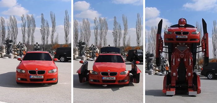 Engineers Just Made A Real Life Driveable BMW Transformer