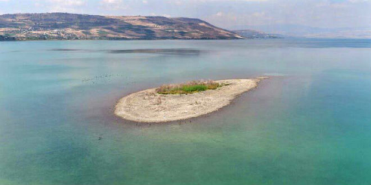 Island Appearing in Sea of Galilee Signals Gog and Magog Army of The End Times