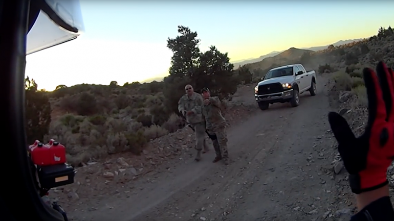 Bikers Visit Area 51 'Back Gate', Threatened by 'Mysterious' Armed Guards