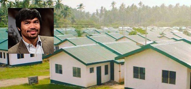 World Champion Boxer Manny Pacquiao Builds 1,000 Homes For Poor Filipinos