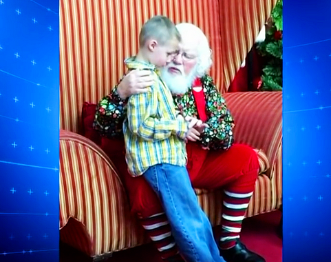 Little Boy With Autism Tells Santa His Darkest Secret. Santa Pulls Him In Close and Says These 5 Words