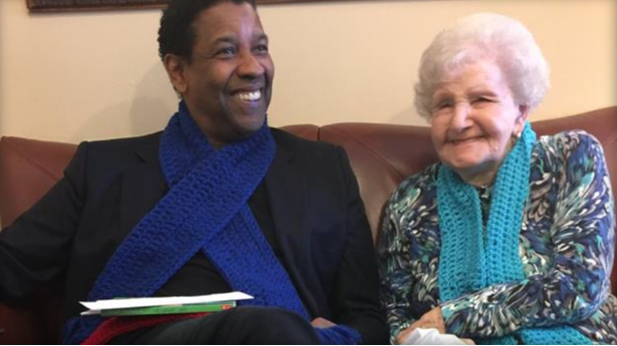 She Claims She Gave Denzel Washington His First Library Card…. Then He Made Her Wish Come True On Her 99th Birthday