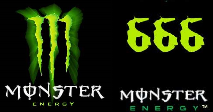 Satanic Monster Energy Drinks