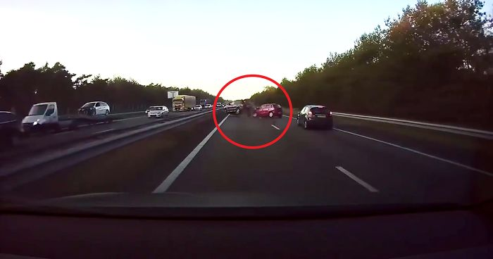 "Video Of Tesla ""Predicting"" A Car Crash Seconds Before It Happens Goes Viral"