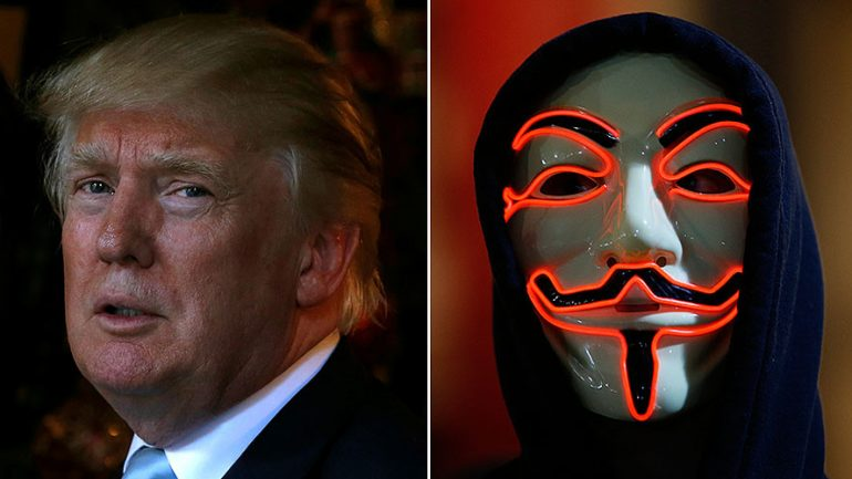 Anonymous Warns Trump: 'You Will Regret The Next 4 Years'