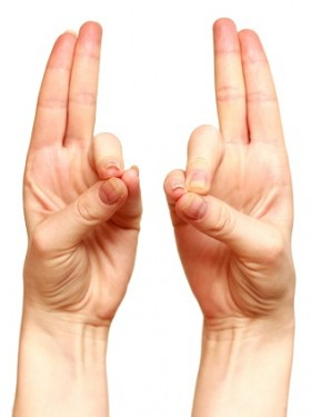 Stretch Your Ring Finger With Your Thumb, and Maintain For a Few Seconds