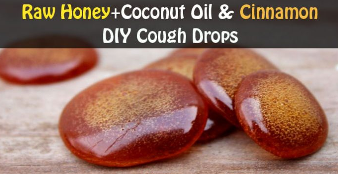 Raw Honey – Coconut Oil and Cinnamon-DIY Cough Drops That Will Save You A Trip To The Doctor