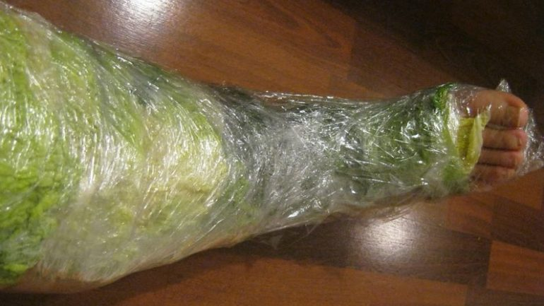 Wrap Your Leg With Cabbage For 1 Hour And This Will Happen To Your Joint Pain