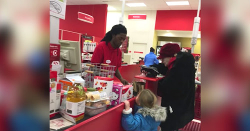 Target Cashier Has No Idea Camera Is Recording Him, Goes Viral Almost Immediately