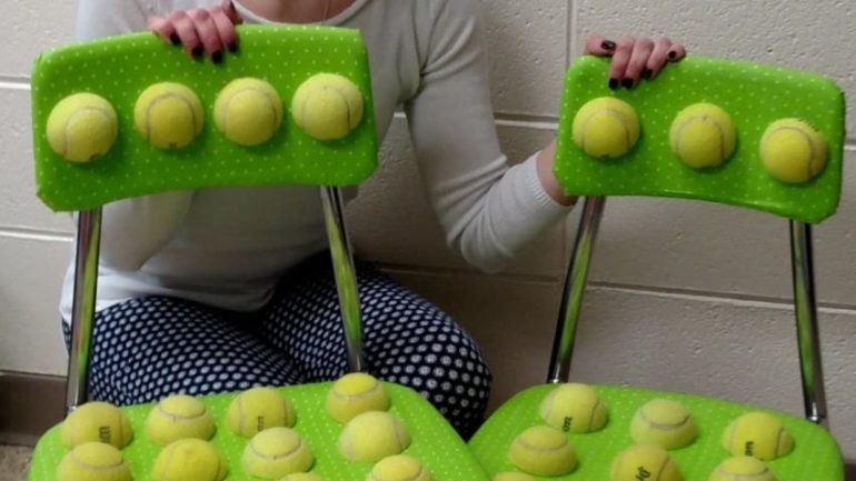 Woman Cuts Tennis Balls In Half And Glues Them To Chairs, Sees Immediate Change In Her Students