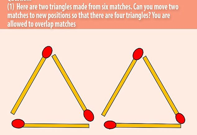 Can You Solve This Puzzle In Two Moves?….Tricky Brainteaser Involving Just Six Matches Leaves The Internet Perplexed