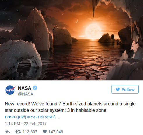 7 New Earth Sized Planets Discovered, 3 Found 'In Star's ...