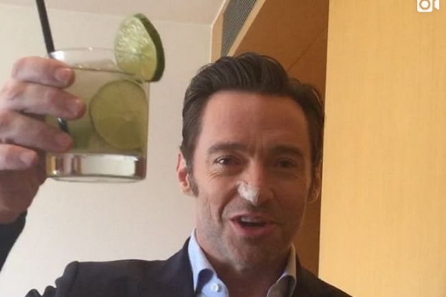 Hugh Jackman Toasts Drink After Kicking Cancer's Ass For Sixth Time