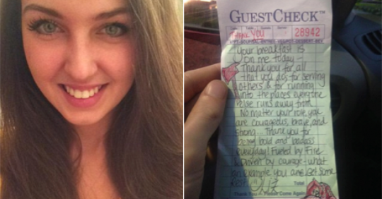 Waitress Doodled On A Receipt, She Opened Facebook 2 Hours Later And Almost Fainted