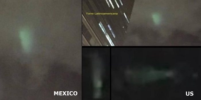 Fleet of UFO's Filmed Crossing Mexican Border Into US