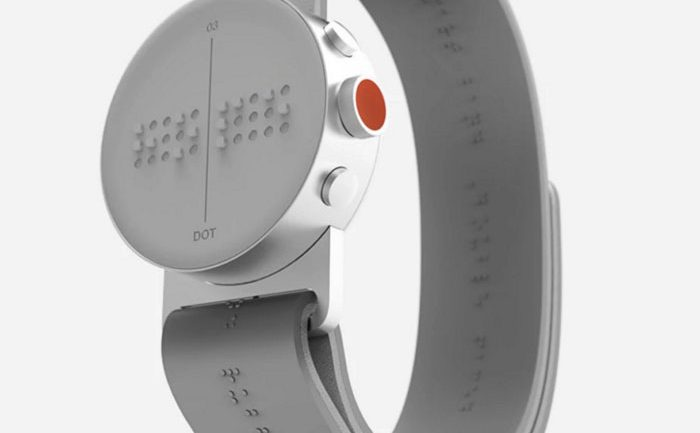 World's First Braille Smartwatch Lets Blind People Feel Messages on Screen