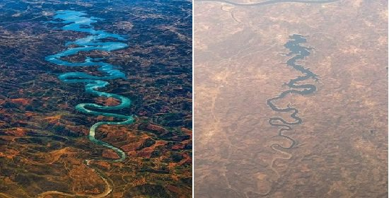 Blue Dragon Shaped River In Portugal Is Going Viral In China