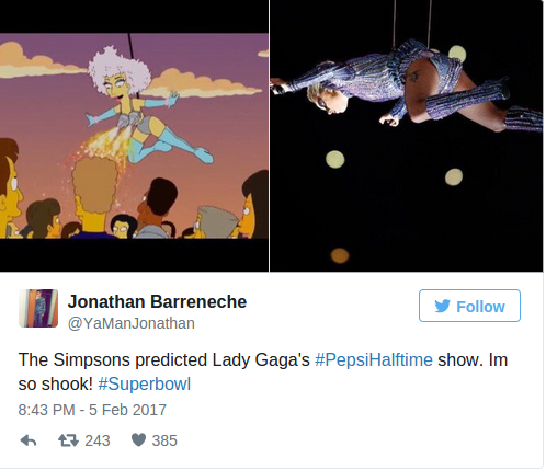 Did 'The Simpsons' Predict Lady Gaga Super Bowl Half Time Show